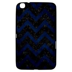 Chevron9 Black Marble & Blue Grunge Samsung Galaxy Tab 3 (8 ) T3100 Hardshell Case  by trendistuff