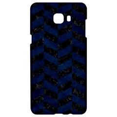 Chevron1 Black Marble & Blue Grunge Samsung C9 Pro Hardshell Case  by trendistuff