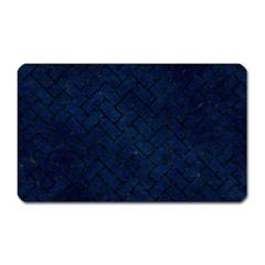 Brick2 Black Marble & Blue Grunge (r) Magnet (rectangular) by trendistuff
