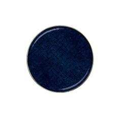 Brick2 Black Marble & Blue Grunge (r) Hat Clip Ball Marker (10 Pack) by trendistuff