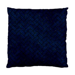 Brick2 Black Marble & Blue Grunge (r) Standard Cushion Case (two Sides) by trendistuff