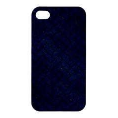 Brick2 Black Marble & Blue Grunge (r) Apple Iphone 4/4s Premium Hardshell Case by trendistuff