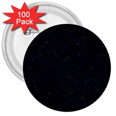 Brick2 Black Marble & Blue Grunge 3  Button (100 Pack) by trendistuff