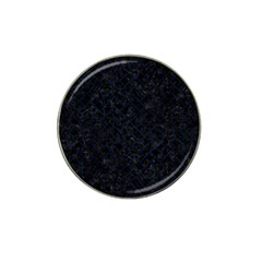 Brick2 Black Marble & Blue Grunge Hat Clip Ball Marker by trendistuff