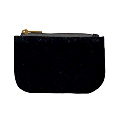 Brick2 Black Marble & Blue Grunge Mini Coin Purse by trendistuff