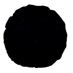 Brick2 Black Marble & Blue Grunge Large 18  Premium Flano Round Cushion  by trendistuff