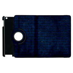 Brick1 Black Marble & Blue Grunge (r) Apple Ipad 3/4 Flip 360 Case by trendistuff