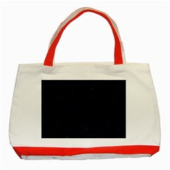 Brick1 Black Marble & Blue Grunge Classic Tote Bag (red) by trendistuff