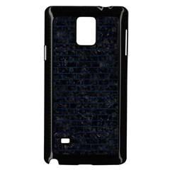 Brick1 Black Marble & Blue Grunge Samsung Galaxy Note 4 Case (black) by trendistuff