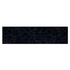 Brick1 Black Marble & Blue Grunge Satin Scarf (oblong) by trendistuff