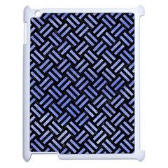 Woven2 Black Marble & Blue Watercolor Apple Ipad 2 Case (white) by trendistuff