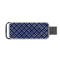 Woven2 Black Marble & Blue Watercolor Portable Usb Flash (one Side) by trendistuff
