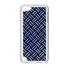 Woven2 Black Marble & Blue Watercolor Apple Ipod Touch 5 Case (white) by trendistuff