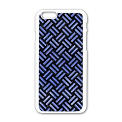Woven2 Black Marble & Blue Watercolor Apple Iphone 6/6s White Enamel Case by trendistuff
