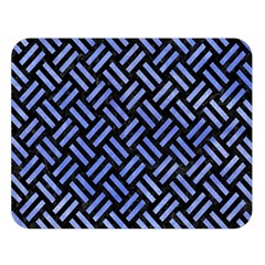 Woven2 Black Marble & Blue Watercolor Double Sided Flano Blanket (large) by trendistuff