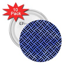 Woven2 Black Marble & Blue Watercolor (r) 2 25  Button (10 Pack) by trendistuff