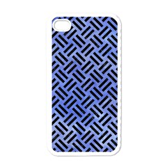 Woven2 Black Marble & Blue Watercolor (r) Apple Iphone 4 Case (white) by trendistuff