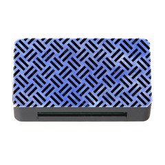Woven2 Black Marble & Blue Watercolor (r) Memory Card Reader With Cf by trendistuff