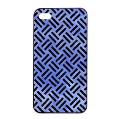 Woven2 Black Marble & Blue Watercolor (r) Apple Iphone 4/4s Seamless Case (black) by trendistuff