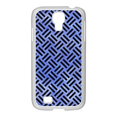 Woven2 Black Marble & Blue Watercolor (r) Samsung Galaxy S4 I9500/ I9505 Case (white) by trendistuff