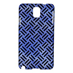 Woven2 Black Marble & Blue Watercolor (r) Samsung Galaxy Note 3 N9005 Hardshell Case by trendistuff