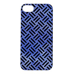 Woven2 Black Marble & Blue Watercolor (r) Apple Iphone 5s/ Se Hardshell Case by trendistuff