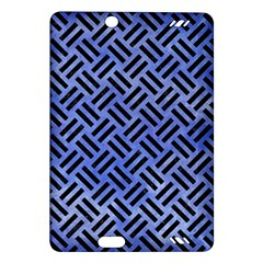 Woven2 Black Marble & Blue Watercolor (r) Amazon Kindle Fire Hd (2013) Hardshell Case by trendistuff