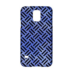 Woven2 Black Marble & Blue Watercolor (r) Samsung Galaxy S5 Hardshell Case  by trendistuff