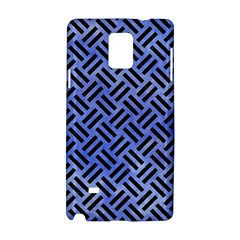 Woven2 Black Marble & Blue Watercolor (r) Samsung Galaxy Note 4 Hardshell Case by trendistuff