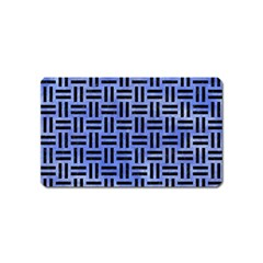 Woven1 Black Marble & Blue Watercolor (r) Magnet (name Card) by trendistuff