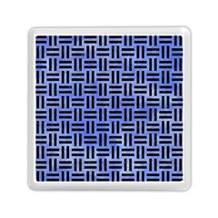 Woven1 Black Marble & Blue Watercolor (r) Memory Card Reader (square) by trendistuff