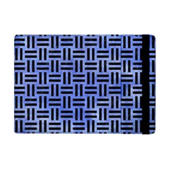 Woven1 Black Marble & Blue Watercolor (r) Apple Ipad Mini Flip Case by trendistuff