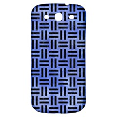 Woven1 Black Marble & Blue Watercolor (r) Samsung Galaxy S3 S Iii Classic Hardshell Back Case by trendistuff