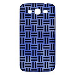Woven1 Black Marble & Blue Watercolor (r) Samsung Galaxy Mega 5 8 I9152 Hardshell Case  by trendistuff