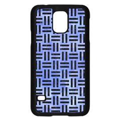 Woven1 Black Marble & Blue Watercolor (r) Samsung Galaxy S5 Case (black) by trendistuff