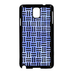 Woven1 Black Marble & Blue Watercolor (r) Samsung Galaxy Note 3 Neo Hardshell Case (black) by trendistuff