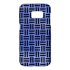 Woven1 Black Marble & Blue Watercolor (r) Samsung Galaxy S7 Hardshell Case  by trendistuff