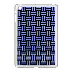 Woven1 Black Marble & Blue Watercolor Apple Ipad Mini Case (white) by trendistuff