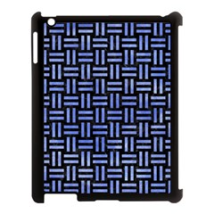 Woven1 Black Marble & Blue Watercolor Apple Ipad 3/4 Case (black) by trendistuff