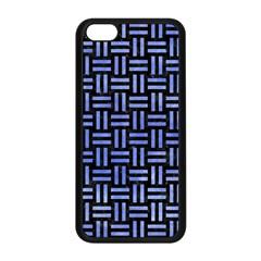 Woven1 Black Marble & Blue Watercolor Apple Iphone 5c Seamless Case (black) by trendistuff