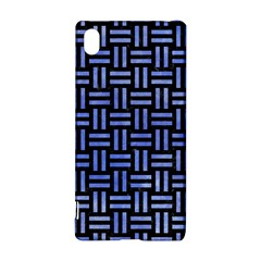 Woven1 Black Marble & Blue Watercolor Sony Xperia Z3+ Hardshell Case by trendistuff