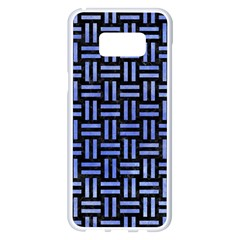 Woven1 Black Marble & Blue Watercolor Samsung Galaxy S8 Plus White Seamless Case by trendistuff