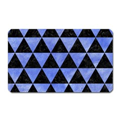 Triangle3 Black Marble & Blue Watercolor Magnet (rectangular) by trendistuff