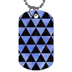 Triangle3 Black Marble & Blue Watercolor Dog Tag (one Side) by trendistuff