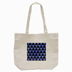 Triangle3 Black Marble & Blue Watercolor Tote Bag (cream) by trendistuff