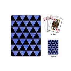 Triangle3 Black Marble & Blue Watercolor Playing Cards (mini) by trendistuff
