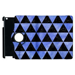Triangle3 Black Marble & Blue Watercolor Apple Ipad 2 Flip 360 Case by trendistuff