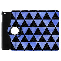 Triangle3 Black Marble & Blue Watercolor Apple Ipad Mini Flip 360 Case by trendistuff