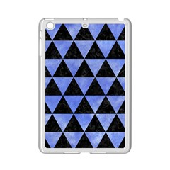 Triangle3 Black Marble & Blue Watercolor Apple Ipad Mini 2 Case (white) by trendistuff