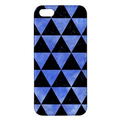 Triangle3 Black Marble & Blue Watercolor Apple Iphone 5 Premium Hardshell Case by trendistuff